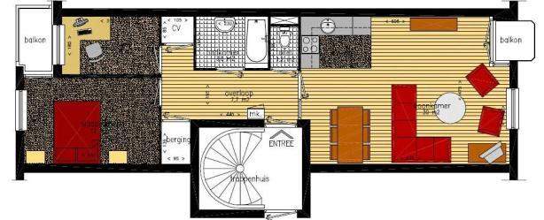 plattegrond appartement