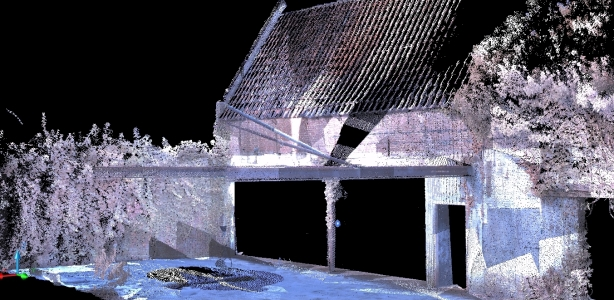 Pointcloud van 3D scan Utrecht